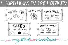 Farmhouse TV Tray Designs Bundle 4 designs Product Image 1