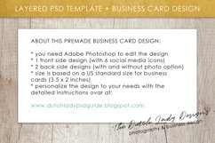 Business Card Template for Adobe Photoshop - Layered PSD Template - Design #1 Product Image 6