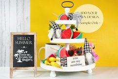 Summer Theme Farmhouse 3 Tier Tray and Wood Chalkboard Sign Product Image 3
