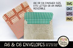 A6 & C6 Envelope SVG - Envelope Cutting File Template Product Image 1