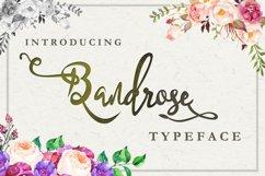Bandrose typeface Product Image 1