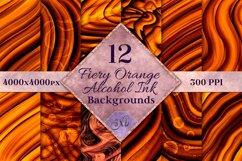 Fiery Orange Alcohol Ink Backgrounds - 12 Image Set Product Image 1