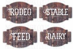 Ranch House Label, Sign, Bundle, Clip Art Print, Sublimation Product Image 1