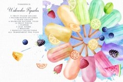 Summer Watercolor Popsicle Graphics Set and Patterns Product Image 1