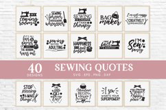 40 Sewing Quotes svg Bundle dxf eps png - sewing machine svg Product Image 2
