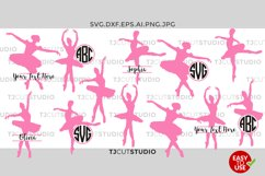 Ballet Svg, Ballet Monogram, Ballet Svg Files, Ballerina SVG Files, for Silhouette Cameo or Cricut Commercial & Personal Use. Product Image 1