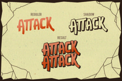 Web Font Attack Attack Typeface Product Image 3