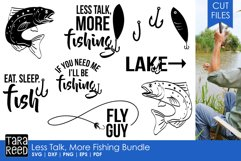 Less Talk More Fishing - SVG and Cut Files for Crafters Product Image 1