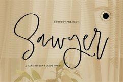 Web Font Sawyer - A Handwritten Script Font Product Image 1