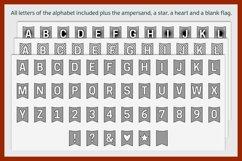 Flag banner SVG BUNTING ALPHABET   single line foil sketch Product Image 4