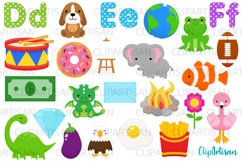 Alphabet Clip Art, ABC Illustrations, A to Z, DEF Letters Product Image 1