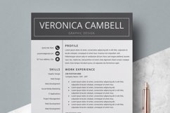 Resume | CV Template Cover Letter - Veronica Cambell Product Image 2
