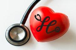 Stethoscope Script - A Nurse Font Product Image 4