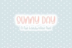 Sunny Days| Quirky Hand Written Font Product Image 1