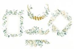 Watercolor Eucalyptus Wreath Clipart. Product Image 3