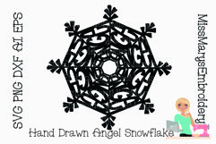 Angel Word Snowflake SVG | Angel SVG | Snowflake SVG | Product Image 1