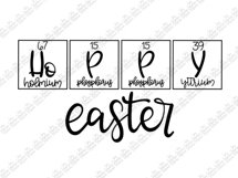 Hoppy Easter|Periodic Table|Handdrawn |SVG|PNG|Easter Bunny Product Image 2