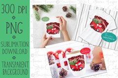 Red Farm Truck Christmas PNG Sublimation Design, Printable Product Image 2