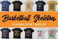 Basketball skeleton 10 t-shirts set Product Image 1