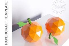 PDF Template of Orange fruit papercraft 3d Papercraft Product Image 3