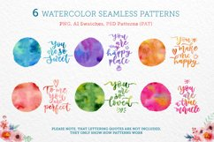 Bright Watercolor Patterns Product Image 1