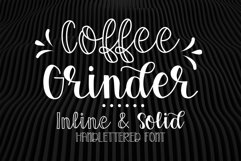 Coffee Grinder - Inline & Solid - Caps & Script Product Image 1
