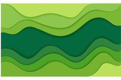 Abstract design background with green and blue cut paper Product Image 2