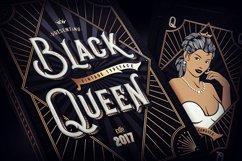 Black Queen font & bonus graphics Product Image 1
