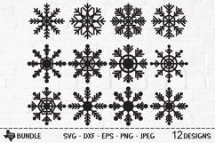Snowflake Bundle SVG, Cut File, Christmas Shirt Designs Product Image 1