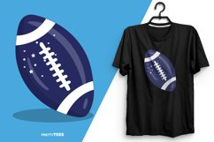 American Football Blue Ball T-Shirt Design | Sublimation Product Image 2