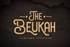 The Beukah (Duo Font) Product Image 1