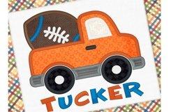 Football Truck Applique Design 1266 Product Image 1