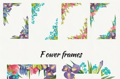 Watercolor flowers, clipart. Spring flowers Product Image 4
