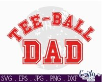 Tee Ball Svg, Tee Ball Dad SVG, Sports Cut File, Grunge Ball Product Image 3
