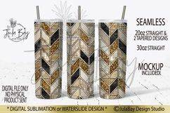 Tangram Skinny Tumbler Bundle Chevron Sublimation Design PNG Product Image 6