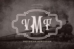 Web Font Victorian Monogram Font Product Image 1