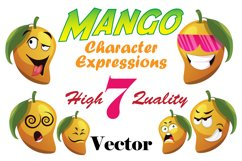 7X Mango Character Expressions Illustrations. Product Image 1