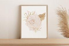 Boho rose printable, Watercolor rose wall print Product Image 1