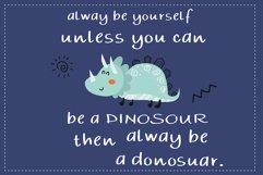 Kid dinosaur Handwritten- cute kid font Kawaii style Product Image 6