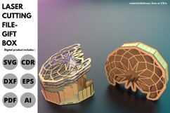 Gift Box - SVG - Laser cutting File Product Image 2