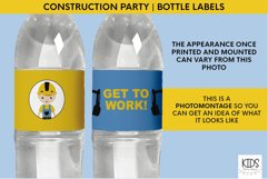 Printable birthday bottle wrappers, construction party decor Product Image 2