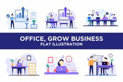 Office, Grow Business, Team Flat Concept Product Image 1