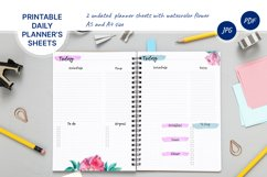 Undated daily planner's sheets. Printable pages A5 Product Image 1