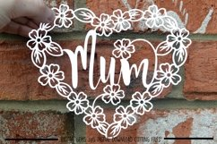 Mum paper cut SVG / DXF / EPS files Product Image 2