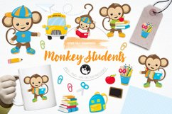 Monkey Students graphics and illustrations Product Image 1