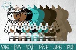 3D Thanksgiving Characters SVG, Papercut Turkey, Pilgrim DXF Product Image 5