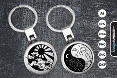 Yin Yang Sun and Moon Keychain Product Image 1