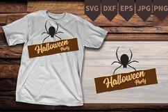 Halloween svg, Spider svg, Black widow svg, Spider Party svg Product Image 2