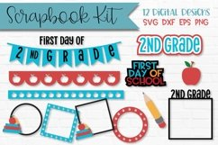 2nd Grade First Day of School Scrapbook Kit Product Image 1