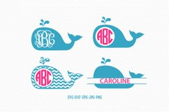 Whale Svg, Whale Frames, Whale Silhouette svg Product Image 1